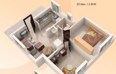 1 BHK Apartment in Mahindra Nova