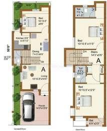 3 BHK Villa in Malles AV Gardens