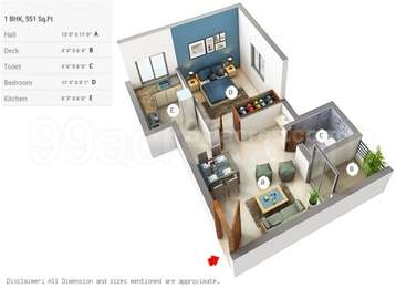 1 BHK Apartment in Malles Aashira