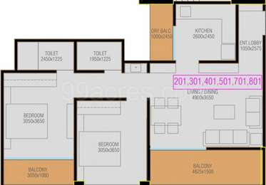 2 BHK Apartment in 99 Riverfront