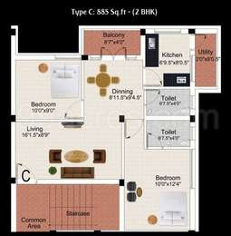 2 BHK Apartment in Marutham Castle