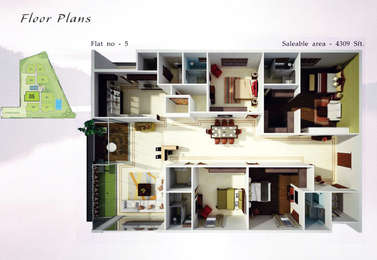3 BHK Apartment in Maruti Rich The Lake Towers