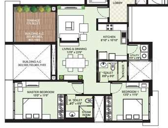 2 BHK Apartment in Marvel Arco