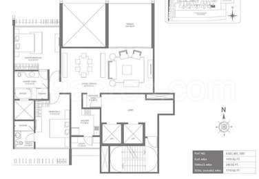2 BHK Apartment in Marvel Sangria