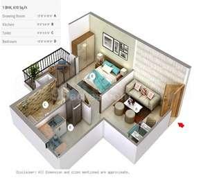 1 BHK Apartment in Maya Garden City