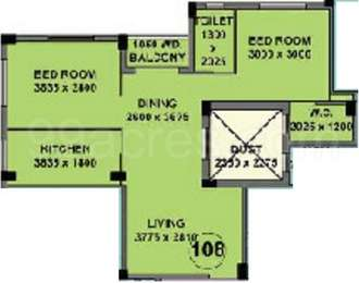 2 BHK Apartment in Mayfair White Field
