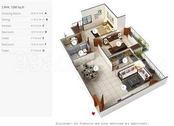 2 BHK Apartment in Mayur Utsav