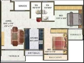 2 BHK Apartment in Meena Residency