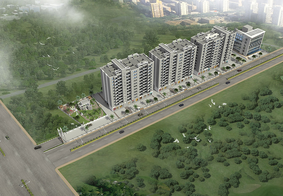Meghraj Spaces Sanvi Marvel Aerial View