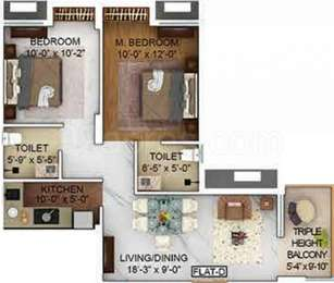 2 BHK Apartment in Merlin The One