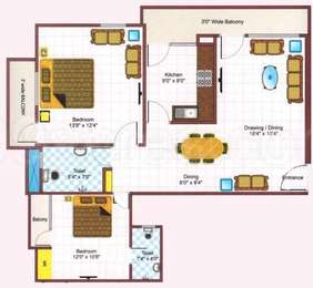 2 BHK Apartment in Metro Gulmohar