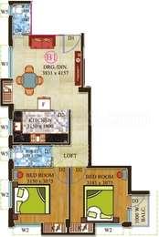 2 BHK Apartment in Onkar Pearl