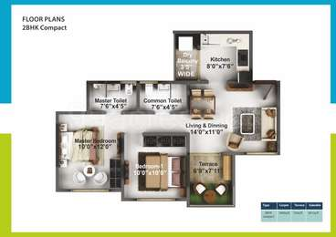 2 BHK Apartment in Mittal High Mont