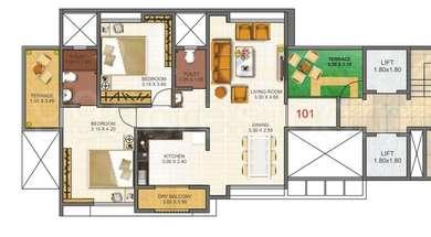 2 BHK Apartment in Mittal Imperium