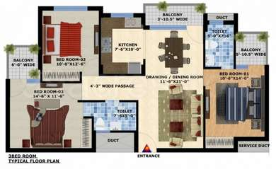 3 BHK Apartment in Mona Cityhomes