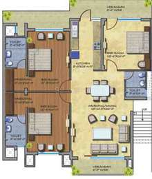 3 BHK Independent Floor in Mona Paradise Apartments