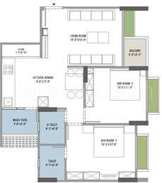 2 BHK Apartment in Magnate Lifestyle