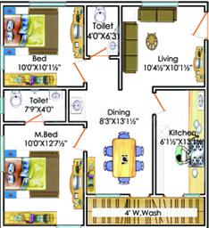 2 BHK Apartment in Suvarna Srinivasam