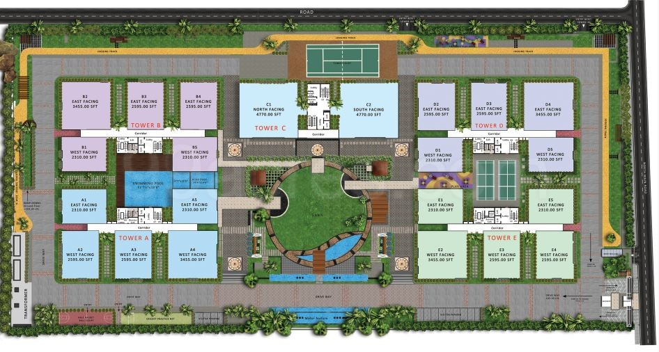 My Home Abhra Floor Plan