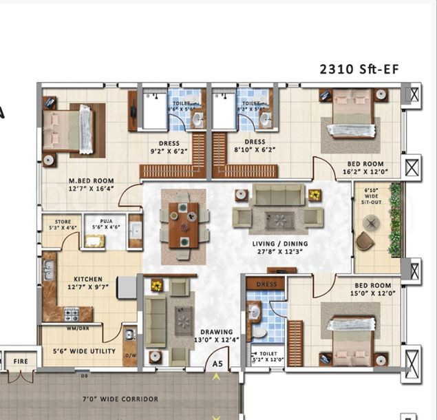 My Home Floor Plan   My Home Constructions My Home Abhra Floor Plan My Home Abhra