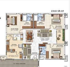 3 BHK Apartment in My Home Abhra