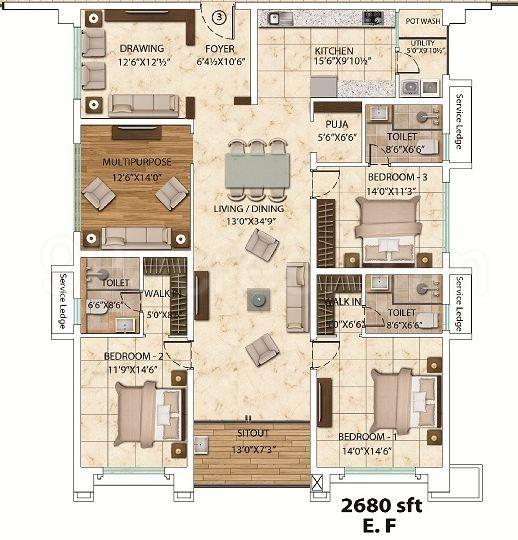 My Home Bhooja Floor Plans