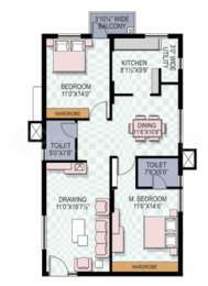2 BHK Apartment in My Home Jewel