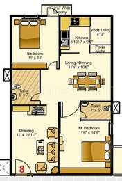 2 BHK Apartment in My Home Navadweepa