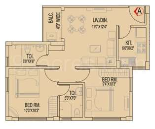 2 BHK Apartment in Atri Green Residency