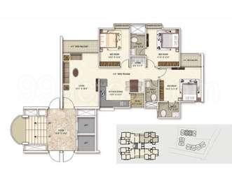 3 BHK Apartment in Narayan Aura