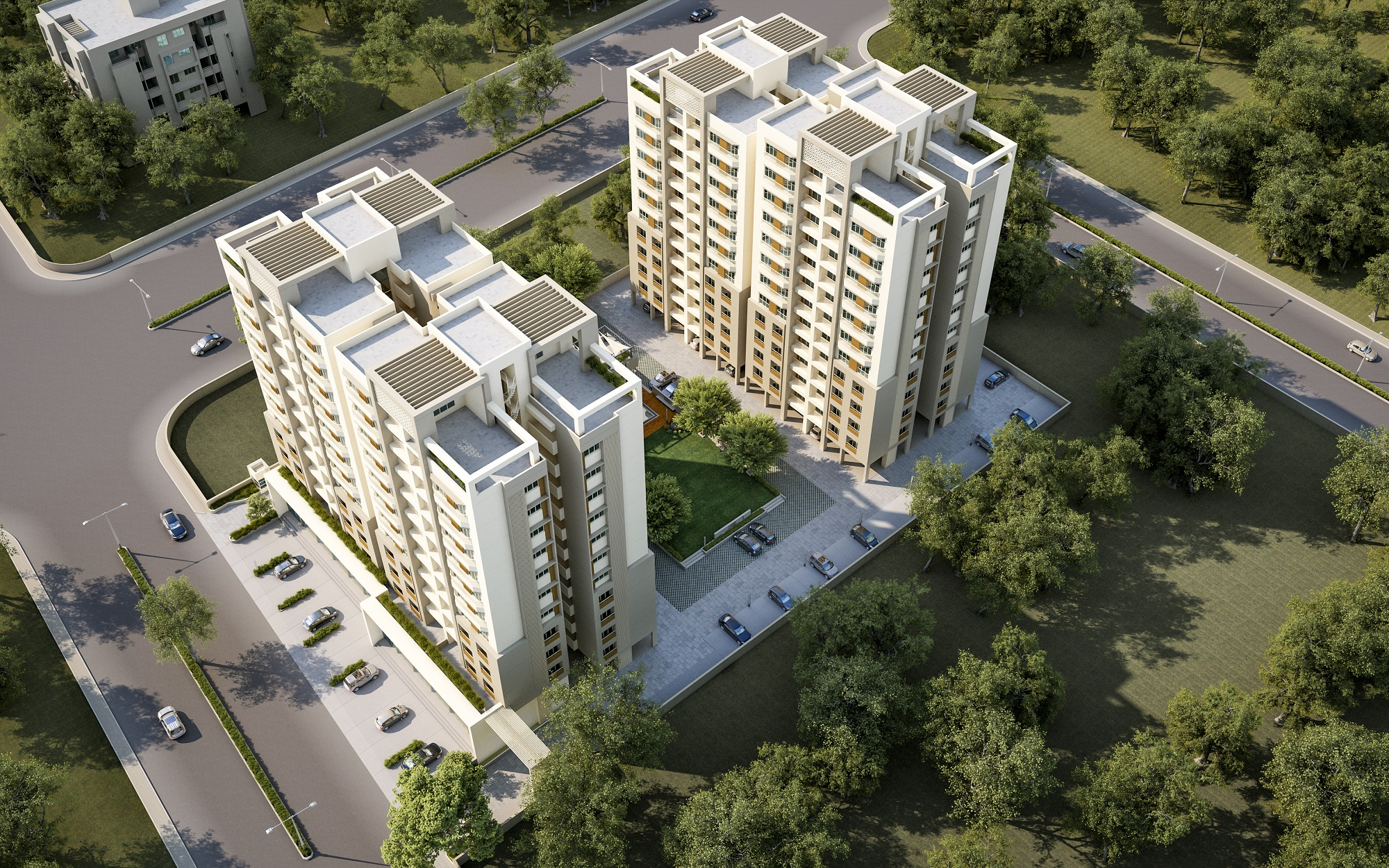 Narayan Greenwoods Aerial View
