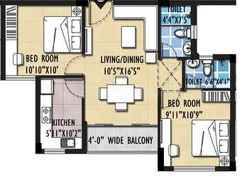 2 BHK Apartment in Symphony Serenity