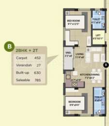 2 BHK Apartment in Symphony Serenity 2