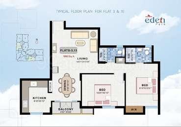 2 BHK Apartment in Navins Eden Park