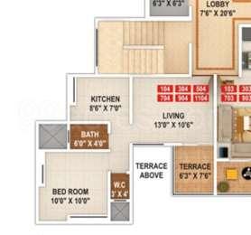 1 BHK Apartment in Navratna Exotica