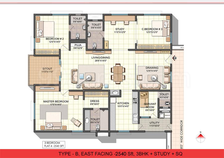 Varapradha real estates ncc urban one floor plan ncc for Guntha to sq ft