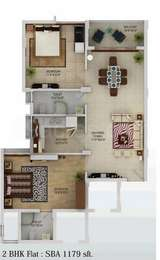 2 BHK Apartment in Neelanchal Krishna Plaza
