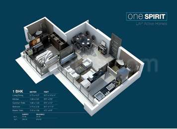 1 BHK Apartment in Nirmal Lifestyle One Mumbai