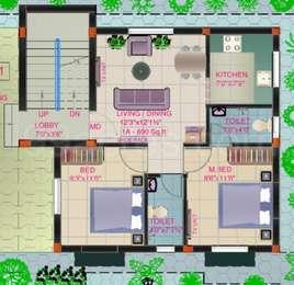 2 BHK Apartment in Nitu Blossom