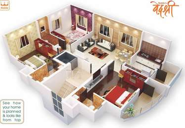 3 BHK Apartment in Nobles Vedshree