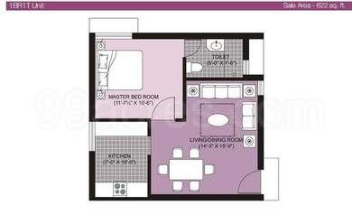 1 BHK Apartment in Arihant Chetna