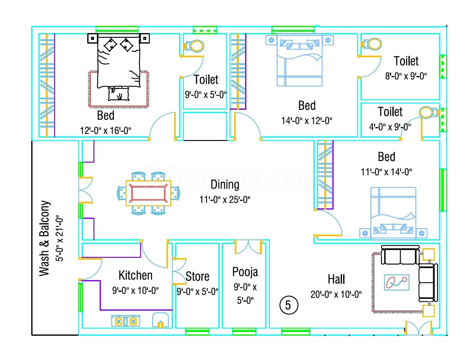 NTR Housing Dhanalakshmi Towers Floor Plan - Dhanalakshmi
