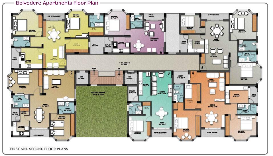 Nugget Estates Builders BELVEDERE Apartments Floor Plan  BELVEDERE Apartments Madinaguda Hyderabad