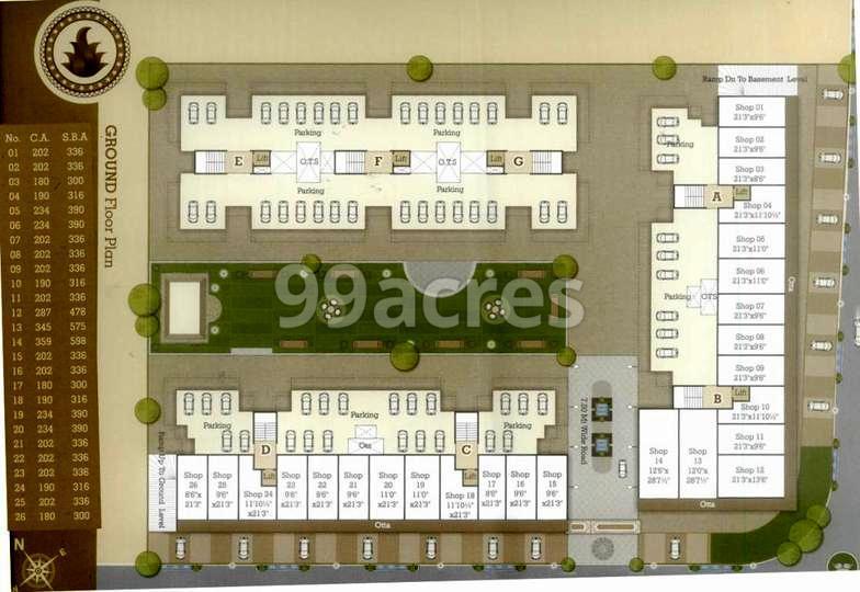 Nyalkaran Shree Siddheshwar Happy Homes Typical Floor Plan