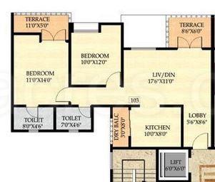 2 BHK Apartment in Nyati Ebony