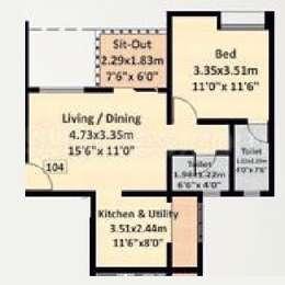 1 BHK Apartment in Nyati Eternity