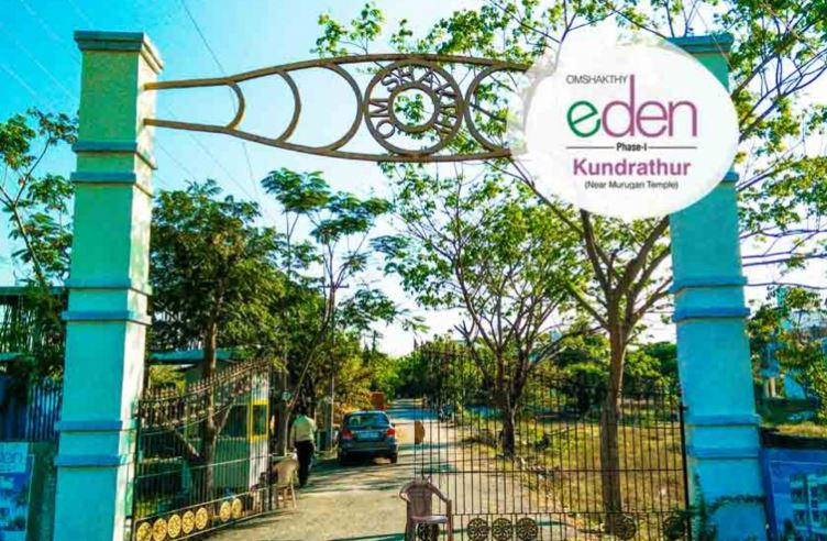 Omshakthy Eden Phase 1 Entrance View