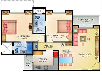 2 BHK Apartment in Omega Heritage