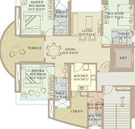 3 BHK Apartment in Orbit Enclave