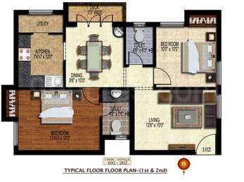 2 BHK Apartment in Orchid Enclave